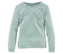 Sweatshirt mit klassischem Rundhalsausschnitt für Mädchen mint