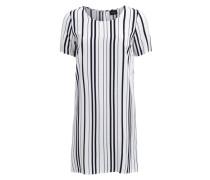 Vimask-Kleid mit kurzen Ärmeln weiß