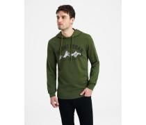 Sweatshirt Kapuzen grün