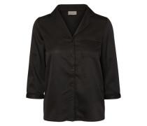 3/4-ärmeliges Hemd schwarz
