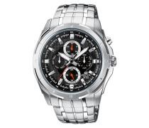 Edifice Armbanduhr schwarz / silber