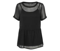 T-Shirt 'lunas SS' schwarz