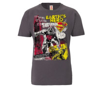T-Shirt Superman pflaume