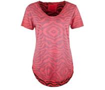 T-Shirt V-Neck TEE Zebra rot