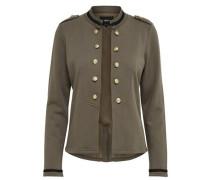 Einfarbige Jacke khaki