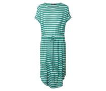 Kleid weiß / dunkelgrün
