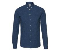 Hemd mit Noppengarn 'Canarsie' dunkelblau / weiß