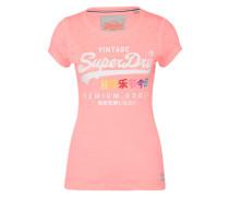 T-Shirt 'Burnout Tee' mischfarben / hellpink / weiß