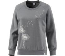Sweatshirt 'Pusteblume' grau / weiß
