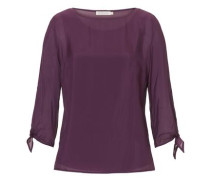 Bluse mit Untershirt lila