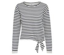 Detailreiches Sweatshirt marine / weiß