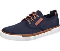 Sneakers 'Racket 14' blue denim / braun / weiß