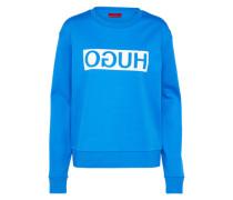 Sweatshirt 'Nicci' royalblau / weiß