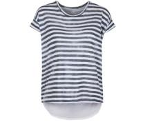 Shirt 'Berlin Stripe Linen' blau / weiß