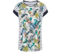 Rundhals-Shirt mischfarben