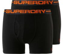 Boxer Herren orange / schwarz
