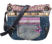 Umhängetasche 'Brooklyn Exotic Jean' blau / mischfarben
