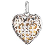 Halsschmuck: Anhänger ohne Kette mit Zirkonia 'Herz Erp-09-Heart-Zi-L'