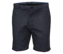 Chino-Shorts mit Bügelfalte dunkelblau