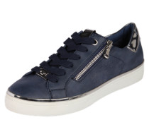 Sneaker mit Zipper navy / silber