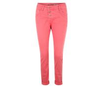 Jeans mit Crinkle-Effekt pink