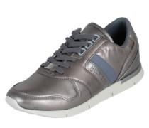 Sneaker aus Leder himmelblau / silber
