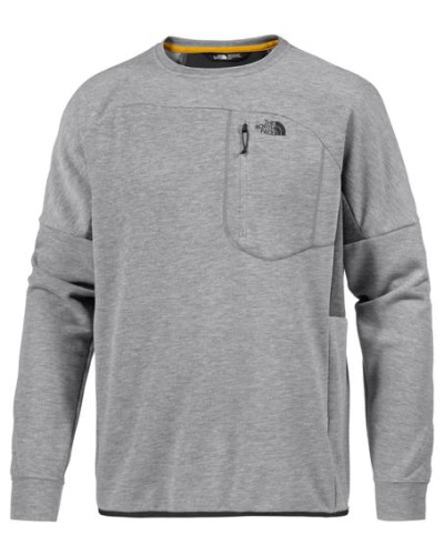'Mountain Slacker Crew' Funktionssweatshirt grau