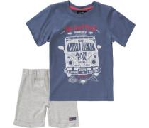 Set T-Shirt + Shorts für Jungen blau