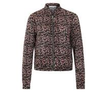 Blumen Blouson-Jacke rostrot / schwarz