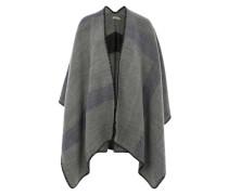 Poncho im Blanket-Stil grau