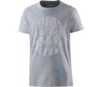 'Wolifoz' T-Shirt taubenblau / grau