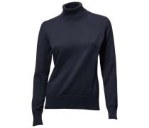Rollkragen-Pullover blau
