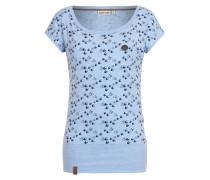 T-Shirt 'Wolle will V (n) 6' blau