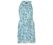 Kurzes Plissée-Kleid aus Chiffon hellblau