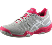 'gel-Resolution 7 Clay' Tennisschuhe Damen hellgrau / dunkelpink