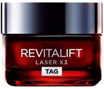 'Revitalift Laser X3' Anti-Age Intensiv-Tagespflege anthrazit / dunkelrot