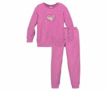 Lillifee Frottee Pyjama lang für kleine Mädchen rosa