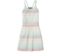 Dress »Colina Stripe Dress Slvls« pastellgelb / pastellgrün / pastellpink