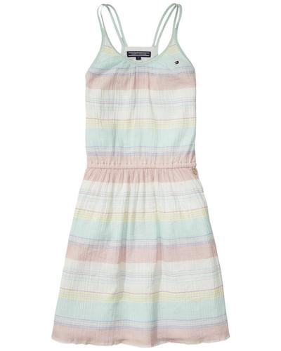 Dress »Colina Stripe Dress Slvls« pastellgelb / pastellgrün / pastellpink