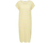 Jerseykleid 'Sfivy' gelb / weiß