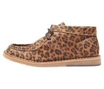 Leoparden-Stiefel hellbraun / schwarz