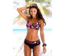 Bügel-Bikini pink / schwarz / weiß