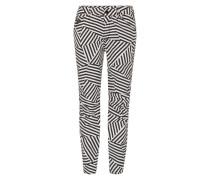 '5622 Elwood Uncovered' Mid Waist Jeans schwarz / weiß