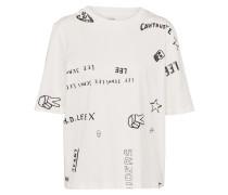T-Shirt 'graphic' weiß