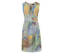 Gemustertes Sommerkleid blau / mischfarben