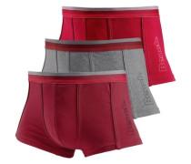 Boxer (3 Stück) grau / rot