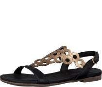 Sandale 'Gold' gold / schwarz