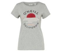 T-Shirt 'LW Sunset Logo' graumeliert