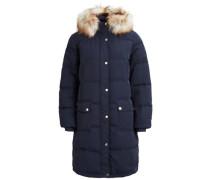 Daunen Mantel blau