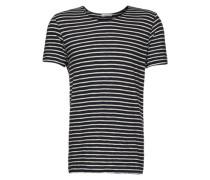 T-Shirt 'Huso 5556' dunkelblau / weiß